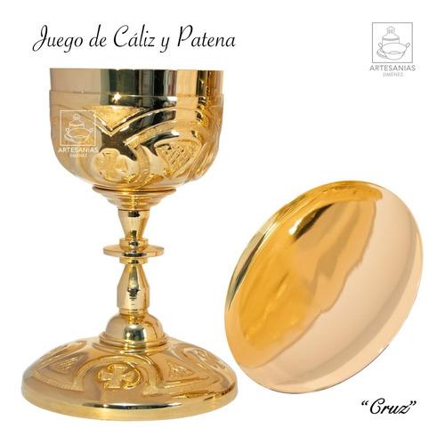 Caliz Y Patena Catolico Cruz