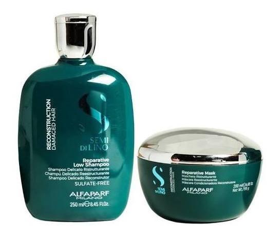 Alfaparf Semi Di Lino Reestructurante Shampoo X250 + Mascara