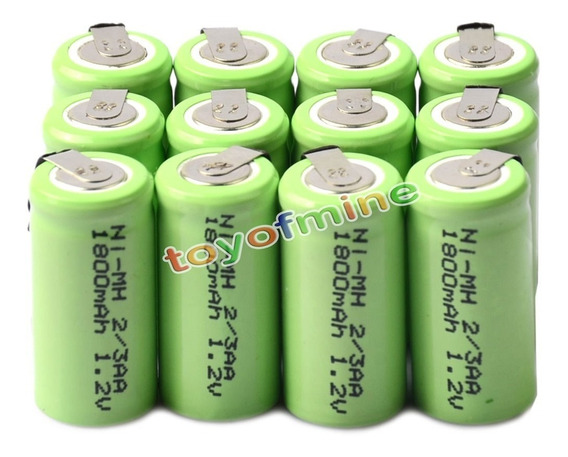 24 Bateria Recarregável Ni-mh 1.2v 1800mah 2/3aa C/terminal