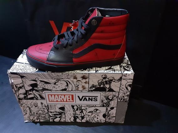 Tênis Vans Sk8 Hi Marvel Deadpool (exclusivo) 100% Original