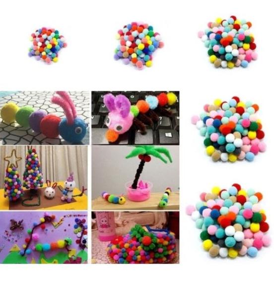 Pompon Extra Grande De Colores En Bolsa