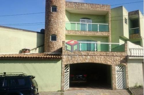 Imagem 1 de 22 de Sobrado À Venda, 3 Quartos, 3 Suítes, 4 Vagas, Jaçatuba - Santo André/sp - 80784