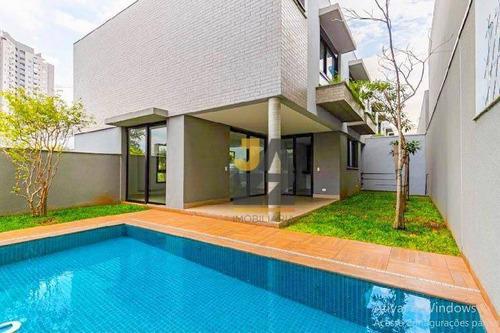 Magnífica Casa  Em Moema, Casa Em Condomínio Fechado Com 3 Suítes E 272 M² - Ca13270