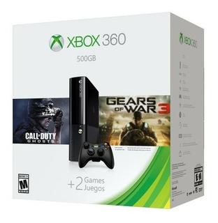 Xbox 360 500 Gb + Juegos Gow3 Y Cod Ghost 220v Nuevo Sellado