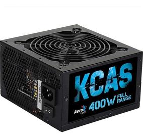 Fonte Gamer Aerocool Kcas 400w White Full Range 80 Plus