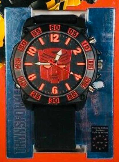 Reloj Transformers Hasbro Nuevo Correa De Silicon