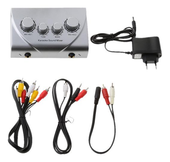 Mini Mixer Karaoke Sistema De Áudio Processo Estéreo Pré-amp
