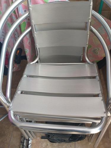 Imagem 1 de 1 de Cadeiras De Alumínio
