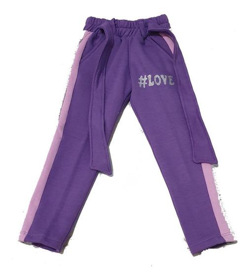 Pantalón Jogging Frizado, Con Lazo, Cinto. Para Niñas.