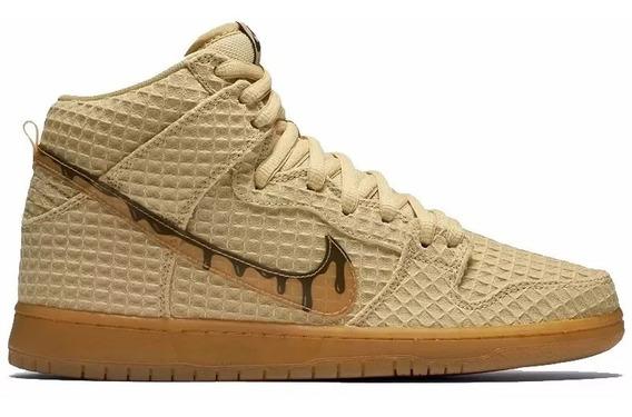 Tênis Nike Dunk Sb Chicken And Waffle Classic Premium High.