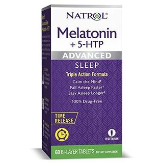 Tabletas Doble Capa Melatonina + 5 Htp Sueño Avanzada Libe