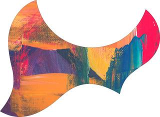 Escudo Palheteira Resinada Violão Aço Jumbo Sônica Abstract