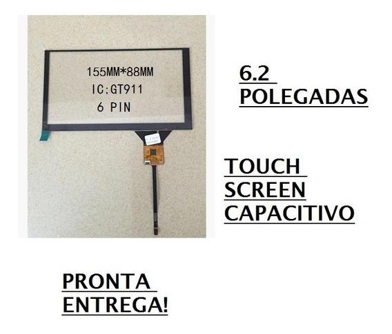Touch Screen 6.2 Capacitivo Central Multimídia 6 Vias Gt911