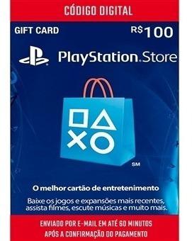 Cartão Playstation R$100 - Card Psn - Brasileira