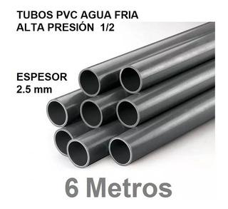 Tubo Pvc Agua Fria 1/2 X 6m Excelent Calidad Somos Fabrica