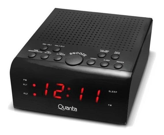 Radio Relógio Digital Am Fm Despertador Quanta Bivolt