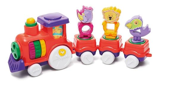 Brinquedo Infantil Zoo Trem - Tateti Sortido