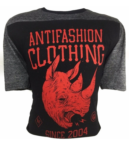 Antifashion Playera Manga 3/4 Rinoceronte Antif023 Ecko Core