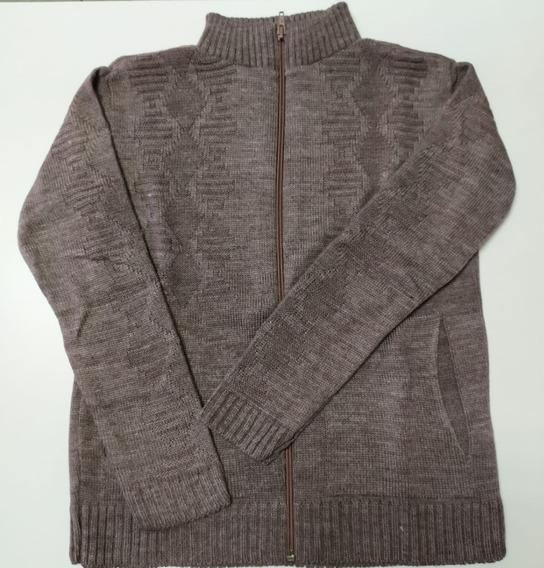 Jaqueta De Menino Zíper Tricot Lã Promoção Inverno Básica