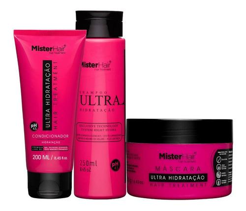 Kit Ultra Hidratação Shampoo, Condicionador E Máscara