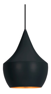 Colgante Convexo Negro Interior Dorado Decorativo - Markas