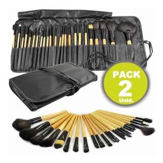 Pack De 2 Set Maquillaje 24 Brochas Y Pinceles C/u R5793