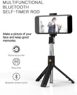 Selfie Stick Trípode Bluetooth 4.0 Ios Android Extiende 70cm