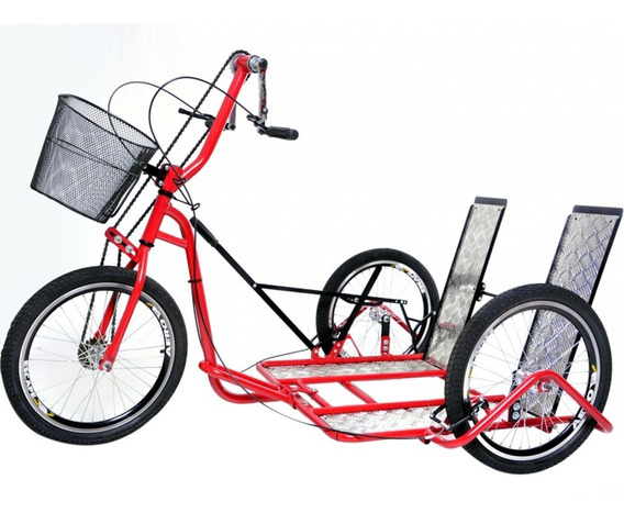 Triciclo Estilo Bicicleta Para Cadeirantes Altmayer Tricad