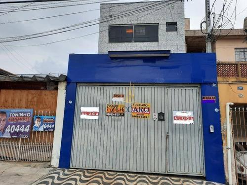 Salão Para Alugar, 130 M² Por R$ 2.800,00/mês - Jardim Pinhal - Guarulhos/sp - Sl0736
