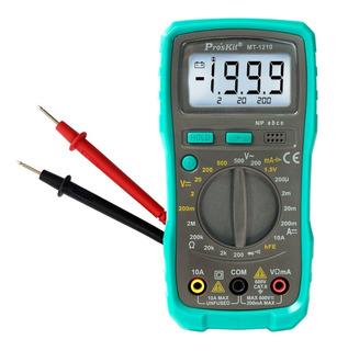 Tester Multimetro Digital Profesional Proskit Mt-1210 + Luz
