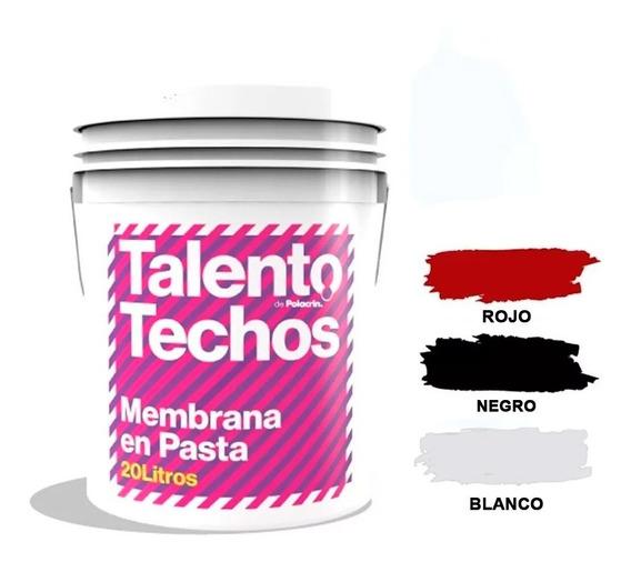 Membrana En Pasta Liquida 25 Kg 20 Lts Polacrin Colores