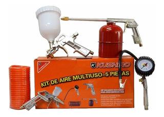 Kit 5 Piezas Accesorios Para Compresor Kushiro