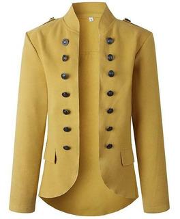 Overwear Work Coat Blazer Con Doble Fila De Botones