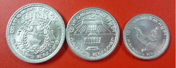 Camboya Set De 3 Monedas Año 1959 Unc Sin Circular