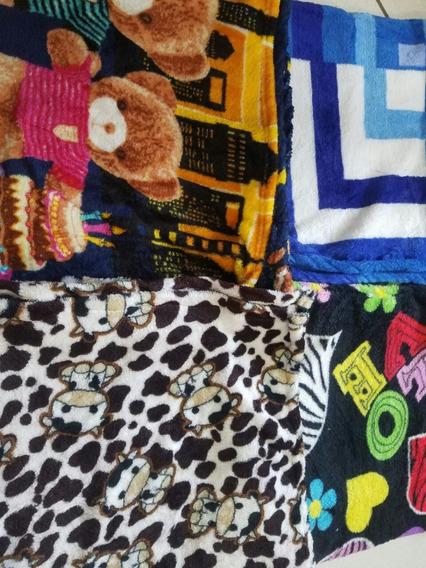 Kit 15 Mantas Cobertor Bebe Infantil Microfibra Estampas