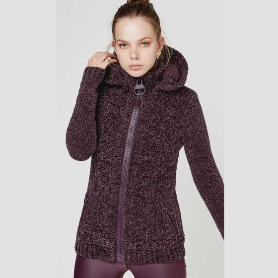 Suéter Con Capucha Para Dama Color Borgoña 822746 Bo 19 K