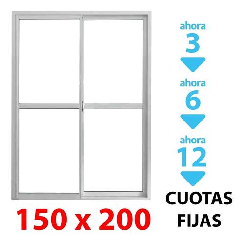 Puerta Ventana Balcon Herrero 150x200cm Umbral Reforzado