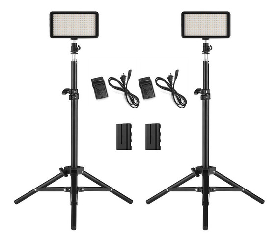Set De 2 Lices Led Para Cámara Andoer W228