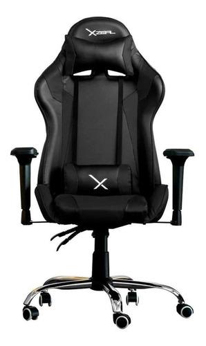 Imagen 1 de 2 de Silla de escritorio Xzeal XZ10 gamer ergonómica  negra
