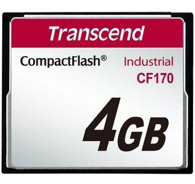 Cartão Memória Compact Flash Cf Transcend Industrial 4gb 170