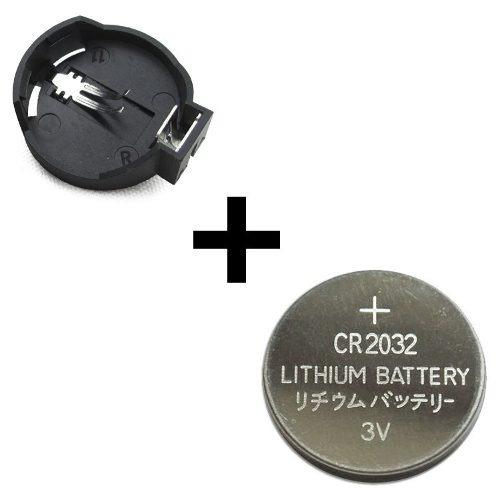 Suporte Pilhas Cr2032 Cr2025 Cr2016 + Bateria Cr2032