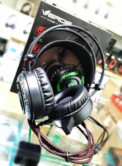 Kit 2 Headset Gamer Microfone Marca Verde Ej-009 Sound 5.1