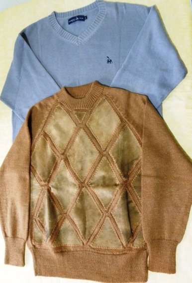 Lote Hombres Sweaters Cuello Redondo Y En V Talle Large