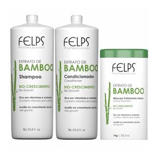 Felps Kit Bamboo Shampoo Condicionador E Máscara 1kg