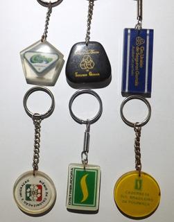 Conjunto 6 Chaveiros Antigos - Sulbrasileiro - Crefisul