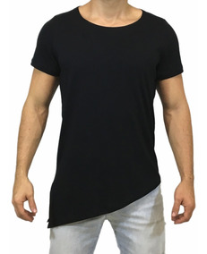 Camisa Oversized Longline Escaping Swag Lateral Gola Canoa