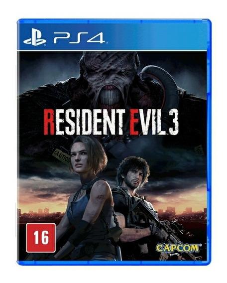 Resident Evil 3 Remake - Ps4 - Mídia Física