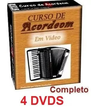 Aulas De Acordeon Em 4 Dvds!!! O Melhor Do Mercado Livre