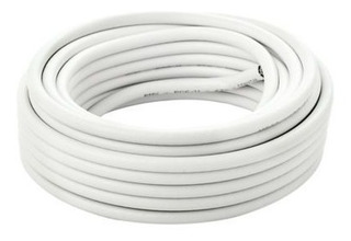 Cable Coaxil Rg6 Color Blanco X Metro Cámara Vigilancia
