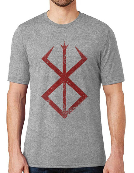 Camiseta Berserker Evil Mark Anime Camisa Masculina